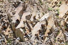 blanc rouge de roche de formations Photographie stock libre de droits