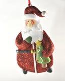 Blanc s'arrêtant de décoration du père noël de Noël Photo stock