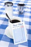 Blanc signez le wagon-restaurant images stock