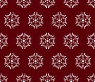 Blanc sur le modèle sans couture rouge foncé de Caucase illustration libre de droits