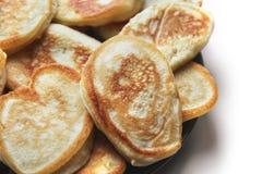 blanc traditionnel de crêpes de nourriture de fond Produit de farine image libre de droits