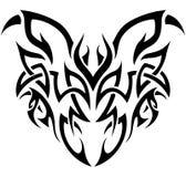blanc tribal de démon noir Illustration de Vecteur