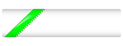 blanc vert d'en-tête Photographie stock