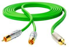 blanc vert de câble Photos libres de droits
