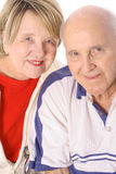 blanc vertical d'isolement d'aînés ensemble Photos libres de droits
