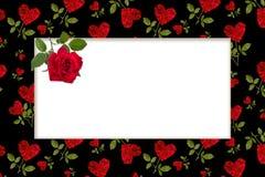 Blanc vide pour la carte de voeux avec un coeur rouge Photos stock