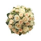 blanc wedding d'isolement par bouquet Photo libre de droits
