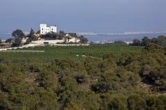 blanca城堡肋前缘montemar西班牙 库存图片