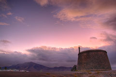 BLANCA Ισπανία Lanzarote Playa ο ουρανός τη νύχτα Στοκ Εικόνα