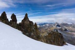 Blanca кордильер в Андах в Перу около Pastoruri Стоковые Изображения RF