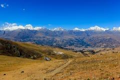 BLANCA de Cordiliera, Huaraz, Peru, Ámérica do Sul foto de stock royalty free