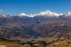 BLANCA de Cordiliera, Huaraz, Peru foto de stock