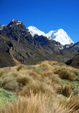 Blanca de Cordillère, les Andes Photos stock