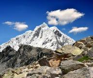 Blanca de Cordillera - Montaña Pisco, Perú Fotos de archivo libres de regalías
