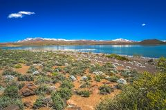 BLANCA de Laguna em Argentina imagens de stock