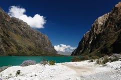 Blanca de Perú, Cordillera Foto de archivo