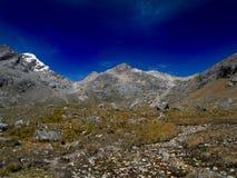 Blanca de Perú, Cordillera masivo fotografía de archivo libre de regalías