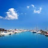 Blanca de Rubicon Playa de marina de Lanzarote Photos libres de droits