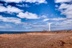 Blanca del playa de Faro de pechiguera Imagenes de archivo