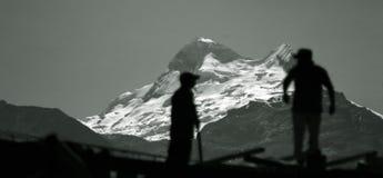 BLANCA di Cordiliera - Il Perù fotografie stock