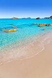 Blanca Ibiza van Blanques Agua van Aiguas strand Royalty-vrije Stock Afbeelding
