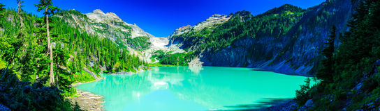 Blanca Lake Pano immagine stock
