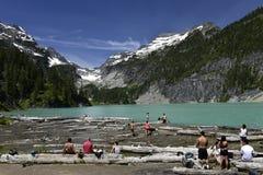 Blanca Lake, Washington, los E.E.U.U. foto de archivo