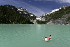 Blanca Lake, Washington, los E.E.U.U. fotos de archivo