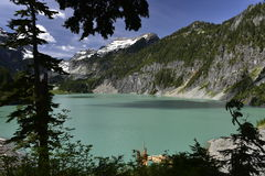 Blanca Lake, Washington, USA. The Blanca Lake is a glacier fed lake in the Central Cascades, State Washington, USA Stock Photography
