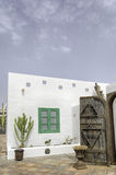 BLANCA Lanzarote Ισπανία Playa μαρινών Rubicon προαυλίων Στοκ φωτογραφία με δικαίωμα ελεύθερης χρήσης
