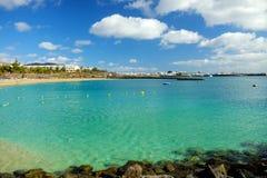 BLANCA Playa παραλιών σε Lanzarote, Ισπανία Στοκ φωτογραφίες με δικαίωμα ελεύθερης χρήσης
