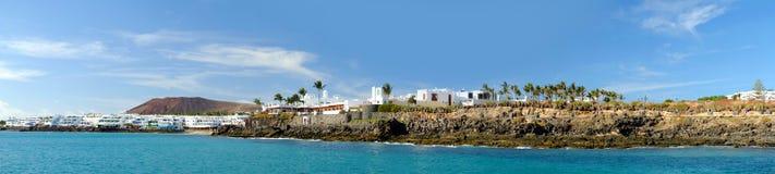BLANCA Playa παραλιών σε Lanzarote, Ισπανία Στοκ Εικόνες