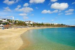 BLANCA Playa παραλιών σε Lanzarote, Ισπανία Στοκ εικόνα με δικαίωμα ελεύθερης χρήσης