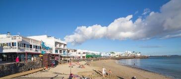 BLANCA Playa, σε Lanzarote, Ισπανία Στοκ Εικόνα