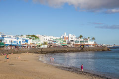 BLANCA Playa, σε Lanzarote, Ισπανία Στοκ εικόνες με δικαίωμα ελεύθερης χρήσης