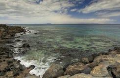 Blanca Playa в Лансароте Стоковая Фотография