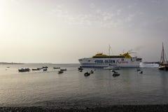 Blanca Playa пассажирского парома - Канарские острова Лансароте Стоковые Фотографии RF