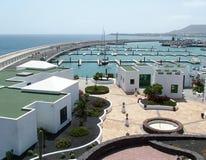 Blanca van Playa haven - Lanzarote Stock Afbeeldingen