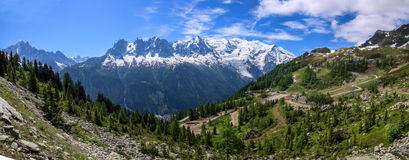blancchamonix mont Arkivbild