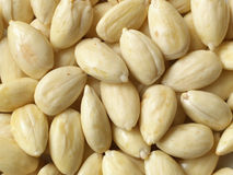 Blanched almonds Royalty Free Stock Photography