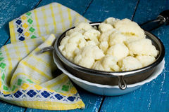 Blanched cauliflower Royalty Free Stock Photography