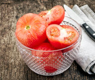 Blanched tomatoes Stock Photos