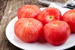 Blanched tomatoes Royalty Free Stock Image