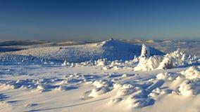 Blancheur en montagnes géantes/Karkonosze Photographie stock
