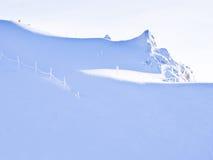 Blancheur sans visibilité des glaciers d'Alpes Photos libres de droits