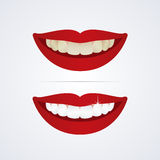 Blanchiment de l'illustration de dents illustration stock