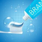 Blanchiment des annonces de pâte dentifrice illustration de vecteur
