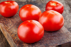 Blanching tomatoes Stock Photography