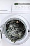 Blanchissage d'argent Images stock