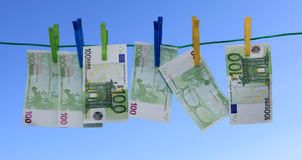 Blanchissage d'argent Image stock
